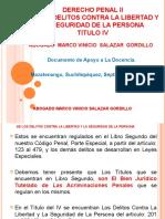 D) DE LOS DELITOS CONTRA LA LIBERTAD Y LA SEGURIDAD DE LA PERSONA 2017