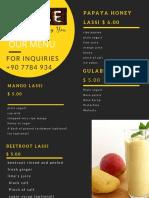 lassi menu
