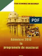 Subiecte Admitere Mastere ASE 2009