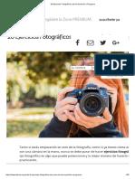 20 Ejercicios Fotográficos que te Ayudarán a Progresar