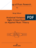 Analytical Variations - 8 Critical Essays on Applied Music Theory (Methodology of Music Research)