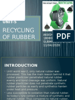recycling of rubber