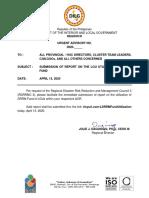 Advisory LDRRM Fund Utilization
