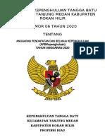 PERATURAN KEPENGHULUAN APBKEP 2020