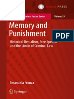 Fronza, Memory and Punishment Historical Denialism, Free Speech and the Limits of Criminal Law