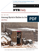 Among Syria's Exiles in Jordan  The New York Review of Books  Daily