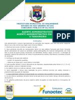 NM 2019 Agente Administrativo Prefeitura Municipal de Maçambará
