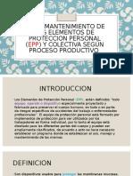 EXPOSICION USO Y MANTENIMIENTO DE LOS EPP