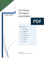Les tissus d'rigine secondaire