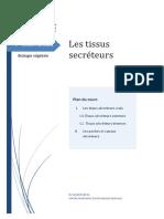 tissus secreteurs (bv)