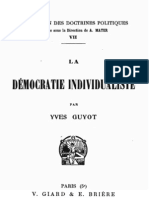 Yves Guyot - La démocratie individualiste