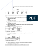 Exercises - Joint and By-product Costing