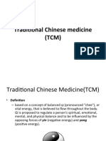 Traditional Chinese Medicine (TCM)
