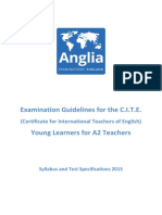 CITE Young Learners for A2 teachers Syllabus 2015