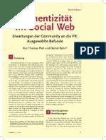 Authentizität im Social Web