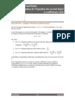 Algo Resolution Equation 2nd Degre.pdf