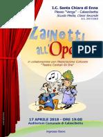 Zainetti All'Opera - Locandina