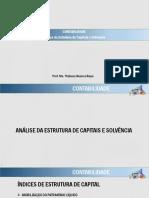 5 - Contabilidade - Análise Da Estrutura de Capitais e Solvência