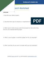Linkedin Research Sheet