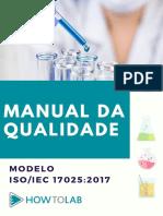 Modelo de manual da qualidade 17025-2017