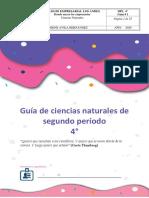Guía de Biología segundo periodo cuarto de primaria