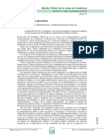 Decreto 99-19 Estructura Consejería de Presidencia, Administración Pública e Interior