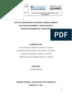 GESTION DE TRASPORTE Y DISTIBUCION ENTREGA 1 L
