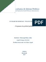 Lucrare de Seminar Politici Publice -Pro