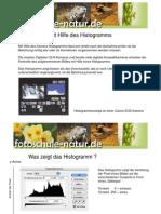 Bildkontrolle mit Hilfe des Histogramms