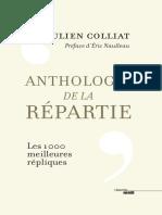 Anthologie de la repartie - Julien Colliat