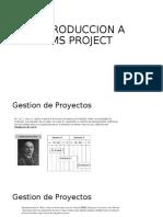 Introduccion a MS Project