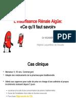L'Insuffisance Rénale Aigüe HLD, Douala Cameroun Septembre2019