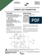 4-20mA Current Loop Transmiter
