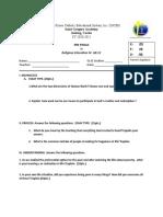 rel.ed-4- sample exam
