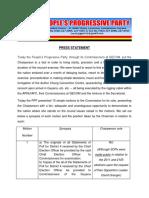 People's Progressive Party Press Statement on Ten GECOM resolutions  April 24th 2020