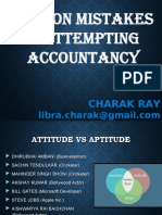COMMON MISTAKES IN ATTEMPTING ACCOUNTANCY.