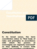 Constitution and Constitutionalism
