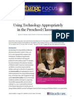 Using technology appropriately in classroom