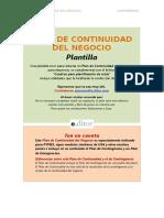 PT110 PLAN DE CONTINUIDAD