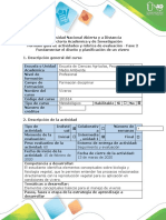 Guía de actividades y rúbrica de evaluación - Fase 2 - Fundamentar el diseño y planificación de un vivero