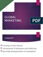 26. GLOBAL MARKETING