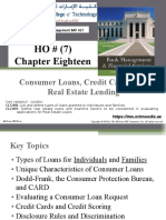 HO#(7) Chap018 Consumer Loans-, Credit Cards-and Real Estate Lending.ppt