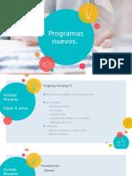Presentacion de nuevos programas Andrea Morales