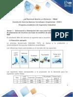 Anexo 1 - Información y descripción del caso para Fase 3. Resolver el caso de planeación de recursos con base en modelos de planeación agregada y MRP