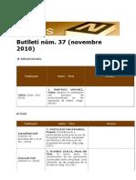 BiblioNews núm. 37 (novembre 2010)