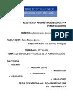 trabajo3ensayodelosenfoquesyteoriasdelaadministracion-121021231706-phpapp01