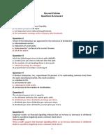 Seminar Payout Policies (QA)