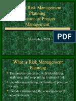 Risk Management Presentation