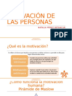 MOTIVACIÓN DE LAS PERSONAS