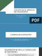 1. ORGANIZACIÓN EN EL SERVICIO DE TRANSPORTE